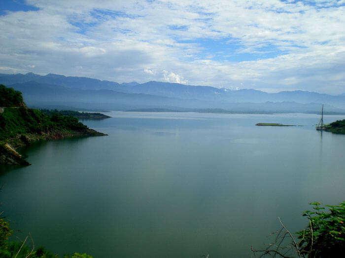 Ranjit Sagar Dam at Pathankot in Punjab