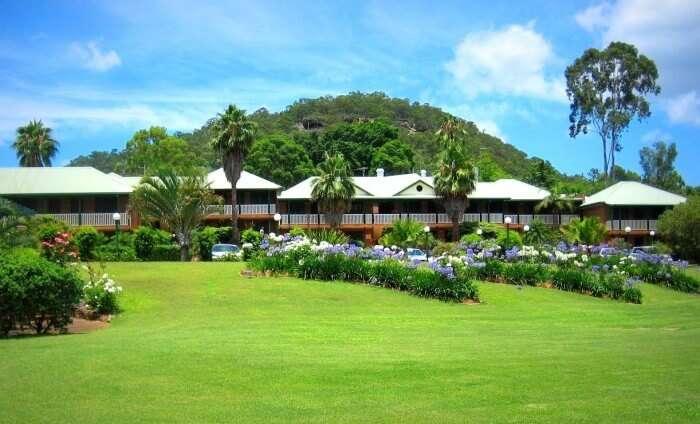 Garden view of Retreat at Wiseman's