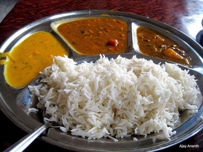 Rice Thali at Delhi School of Economics Canteen
