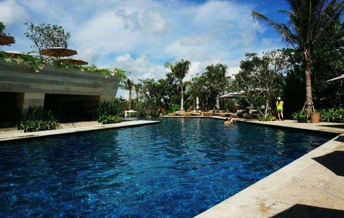 View of the huge pool at Rimba Jimbaran by Ayana