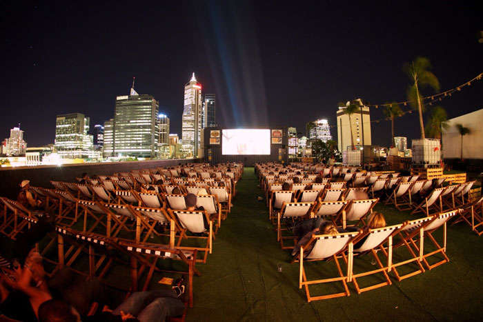 Open air movie screening at Roof Top Movies