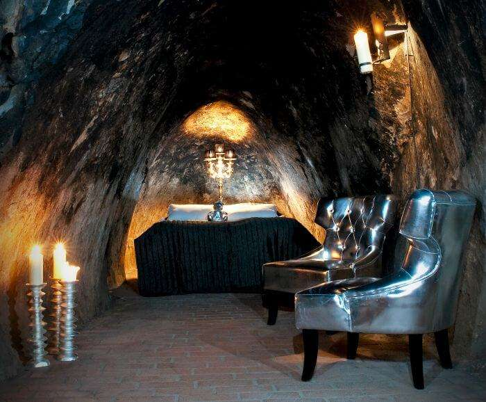 Burrow in Sala Silver Mine Hotel in Sweden