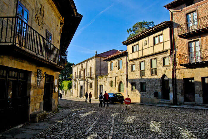 A quiet street through Santillana del Mar