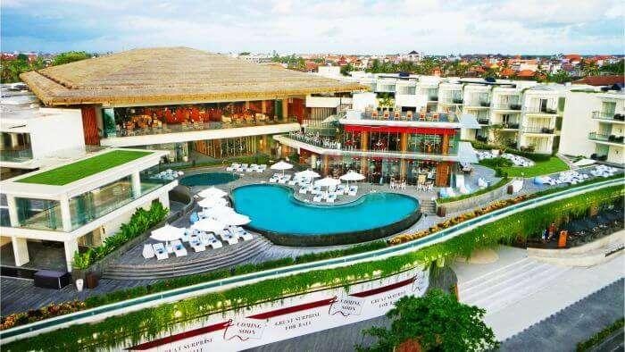 Birds eye view of Sheraton Resort, Kuta