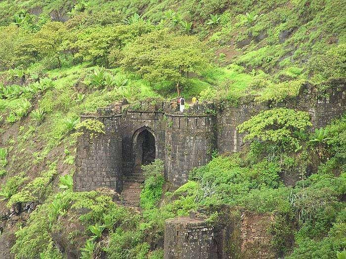 Kalyan Darwaja of the magnificent Sinhagad fortress