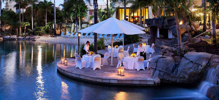 Poolside Restaurant at Surfer's Paradise Marriott Resort & Spa-one of the best beach resorts in Australia