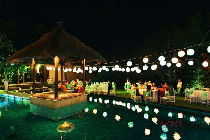 A night event at The Bali Dream Villa, Seminyak