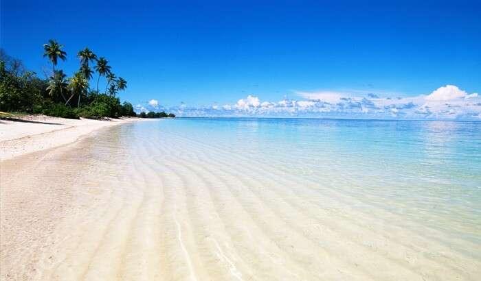 Clear blue skies on the Coromandel coast