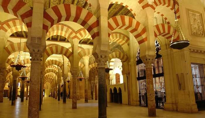 Interior of The Great Mosque of Cordoba