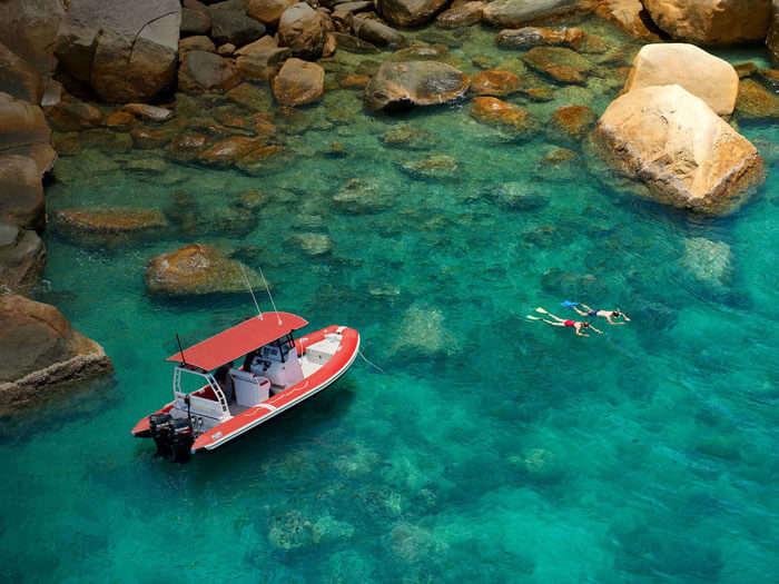 Water activities make Orpheus Island Resort one of the best resorts in Australia