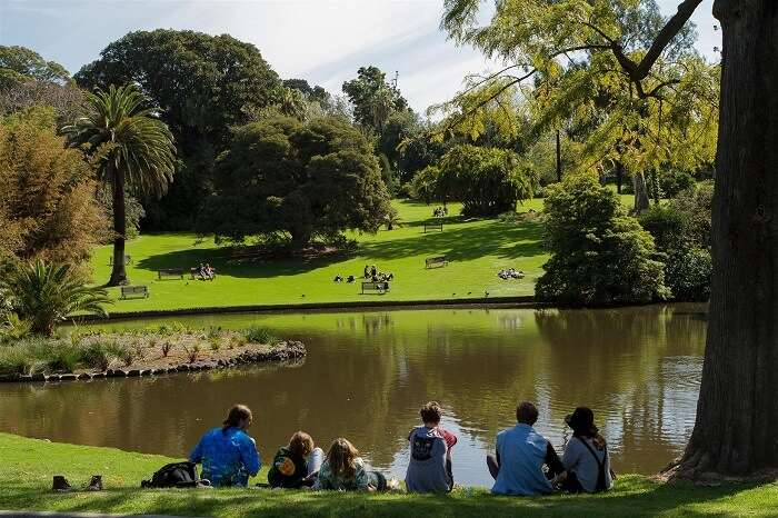 The serenity in the botanic gardens make it among the best places to see in Melbourne