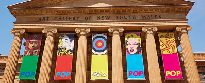 POP Banners at the Art Gallery of New South Wales