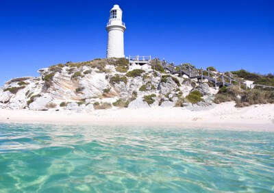 A view of the Bathurst Lighthouse at Rottnest island - one of the best tourist places in Perth