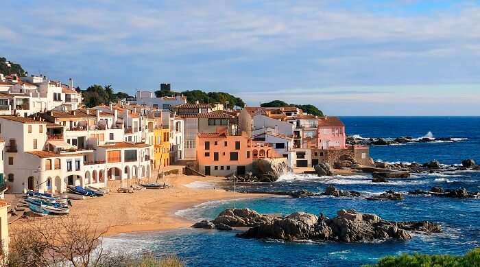 View of the coastal villas on Costa Brava - one of the major Spain tourist attractions.