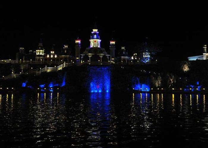 A night view of the amusement park Imagica