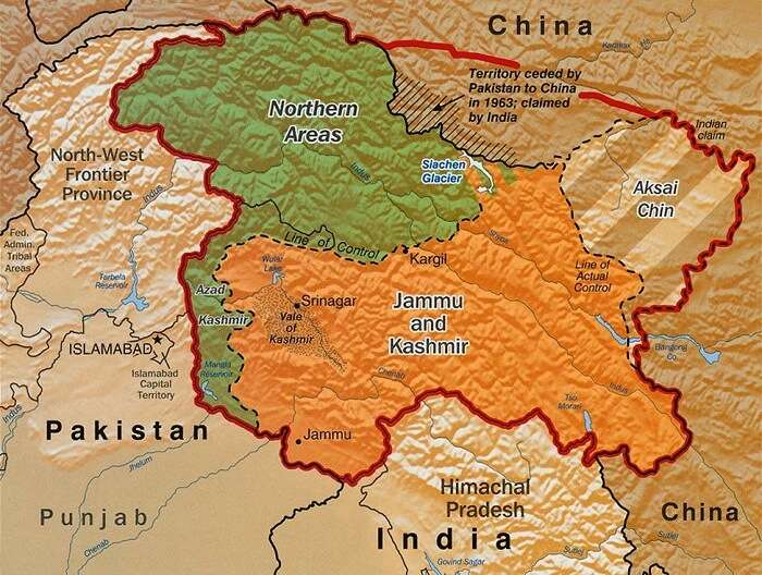 Kashmir and its neighboring countries