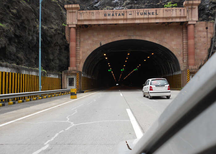 Road trip from Mumbai to Pune includes the long Bhatan Tunnel