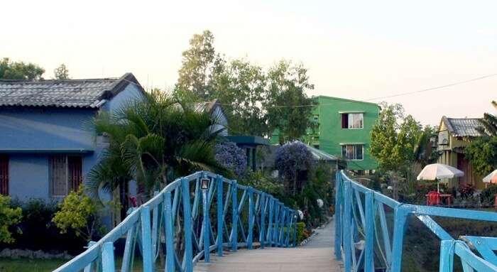 Bridge at united 21 beach resort near Kolkata