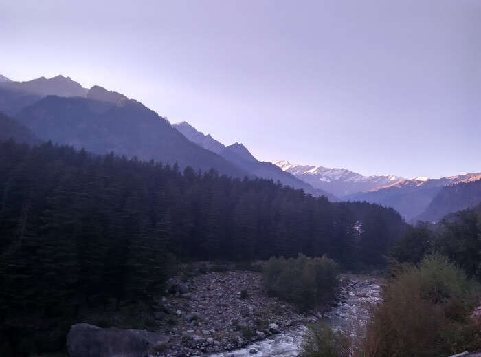 A view of the hills in Manali