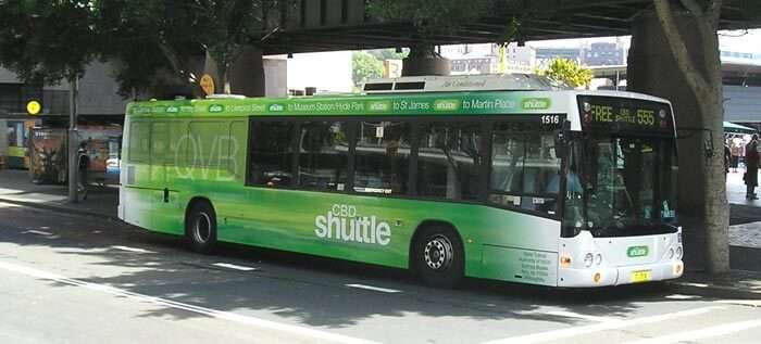 The 555 free shuttle service is one of the best reliefs for travellers in Sydney