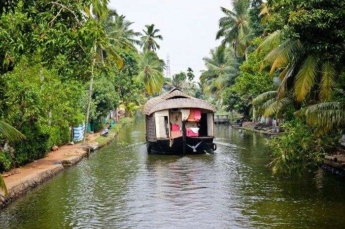 The backwaters of Alleppey in India