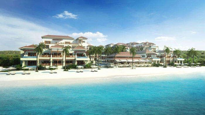 As seen from the beach, Angullia Beach House Resort