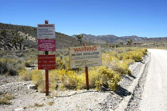 The entry to Area 51