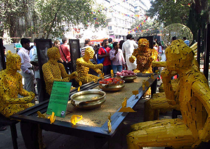 Art displays at Kala Ghoda Art Precinct are among the popular fun places in Mumbai for art lovers