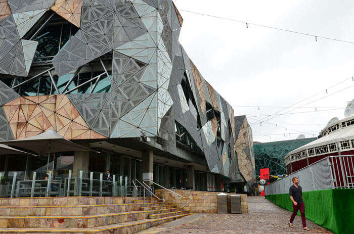 Curvy exteriors of Australian Centre of Moving Images – one of the fun places in Melbourne
