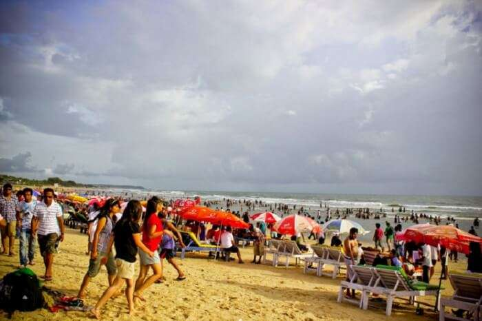 Baga Beach – One of the famous beaches in Goa for a happening nightlife