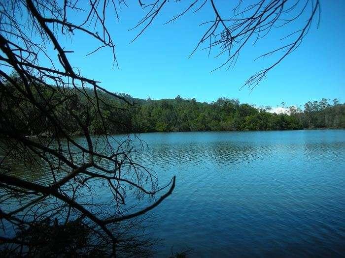 Berijam Lake in Tamil Nadu just at the time of dawn