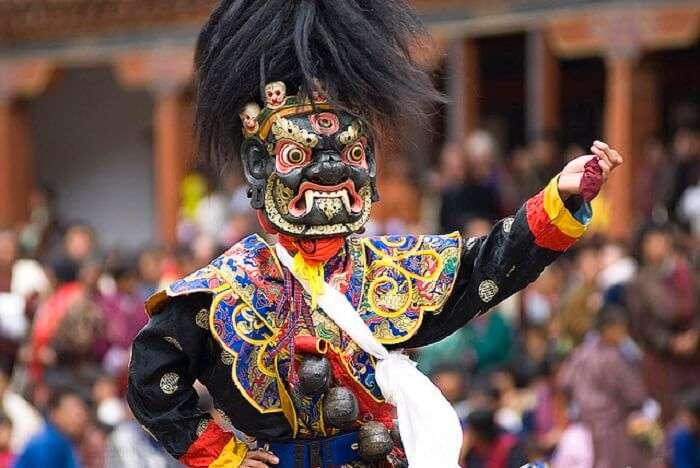 Bhutan festivals are rich in color and dramatics