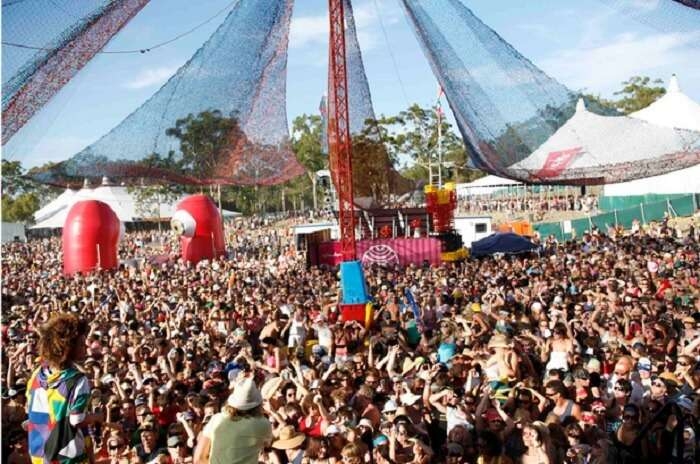 Vibrant scene at the Big Day Out Festival