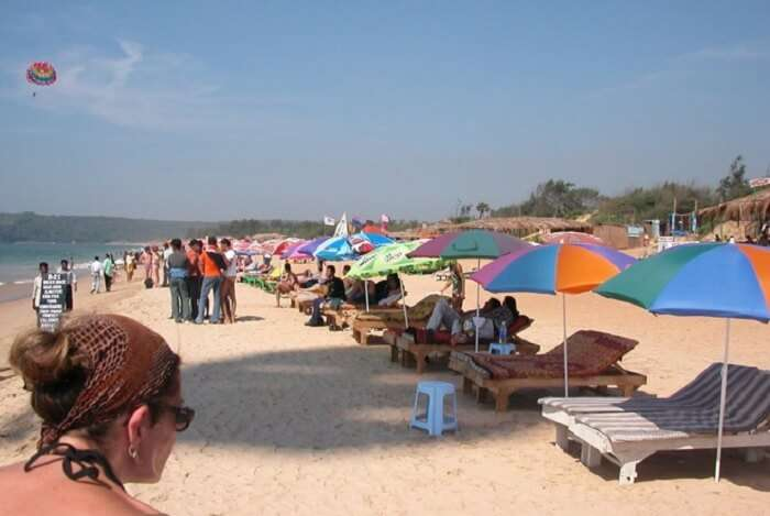 Calangute Beach – One of the famous beaches in Goa for the shacks which serve authentic cuisine