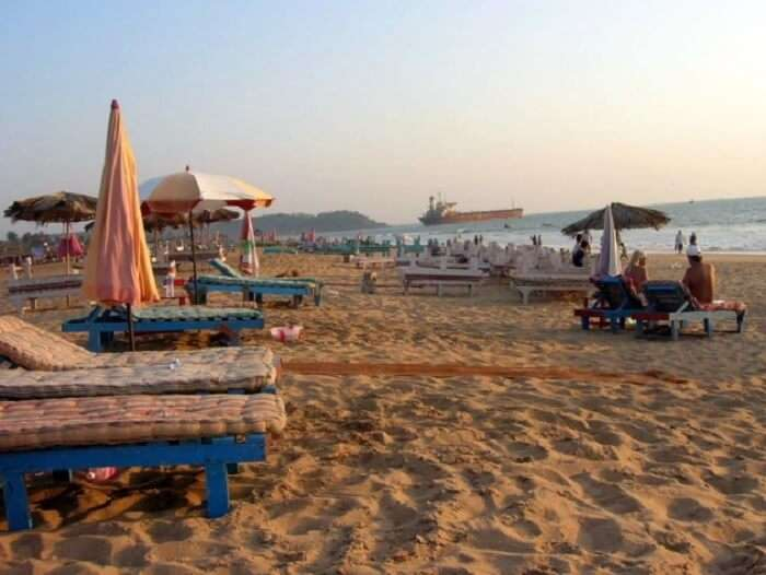 Candolim Beach – One of the famous beaches in Goa for its unspoiled beauty.