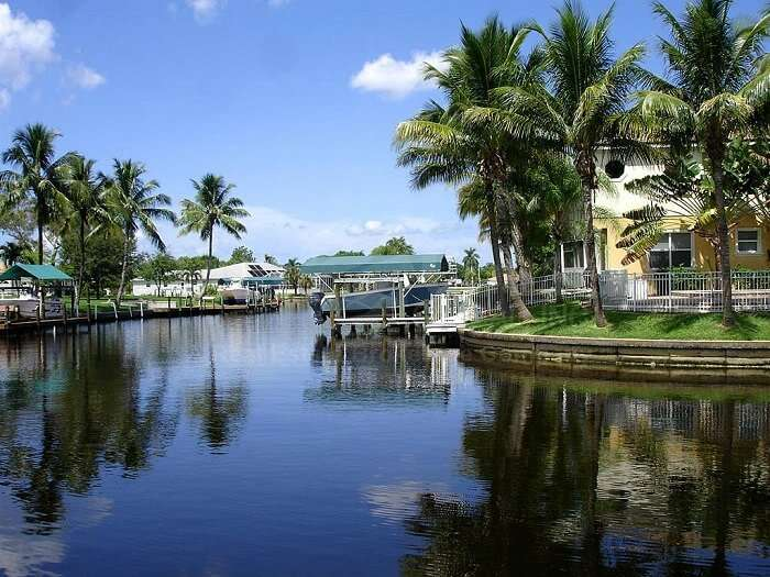 The canal city of Cape Coral in Florida