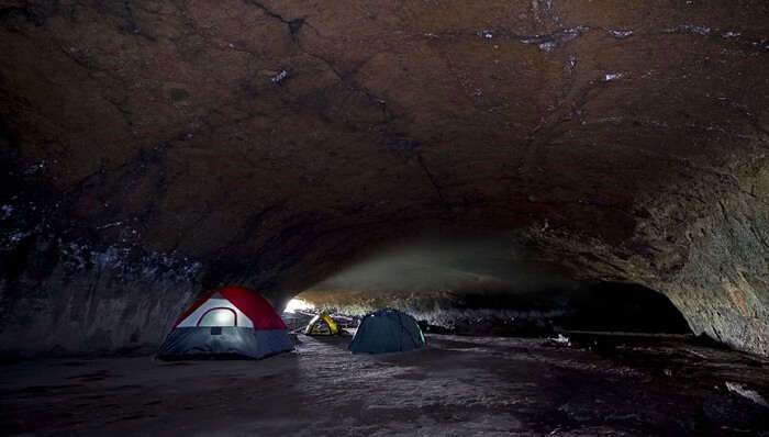 Camping in the caves of Oregon