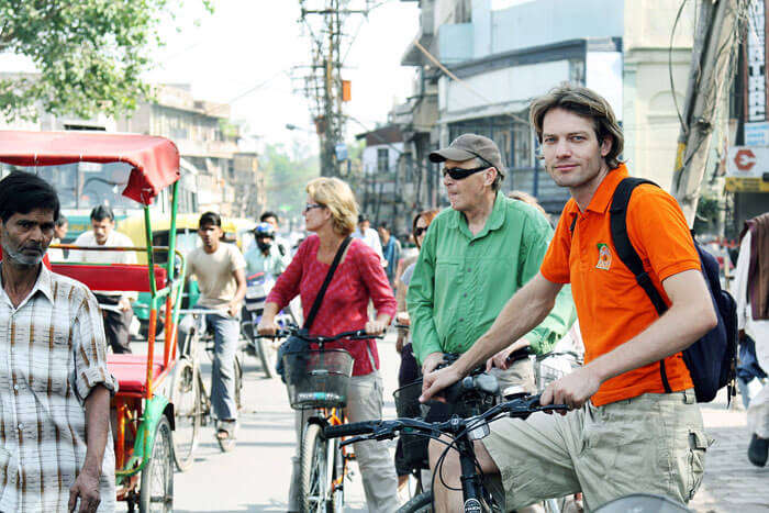 Some of the foreigners indulging in cycling tours – A fun activity to do in Mumbai