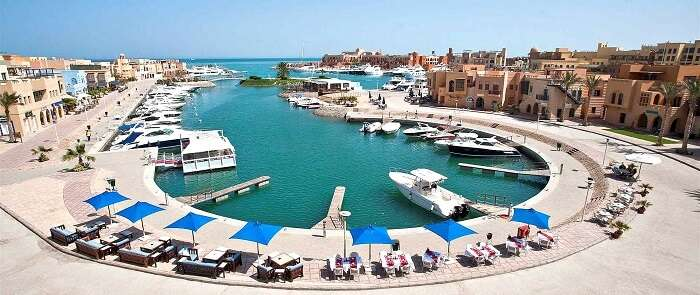 The beautiful El Gouna in Egypt