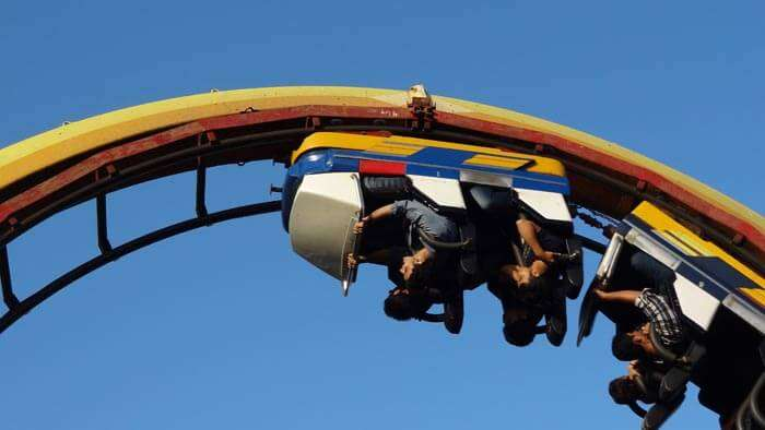 A roller coaster ride at Essel World – one of the fun places in Mumbai for kids