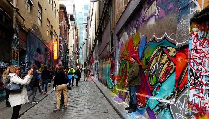 Explore colors of the city on its canvas walls