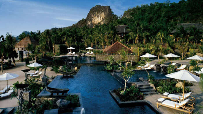Family pool at Four Season Resort - one of the best resorts in Malaysia for a budget stay