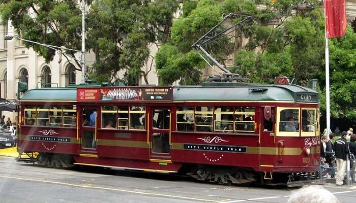 Free ride in the City Circle Tram_