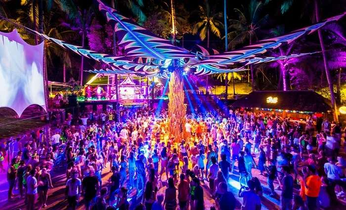 Half moon party at Kho Phangan