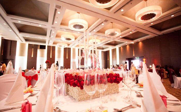 Wedding hall at Holiday Inn in Melaka