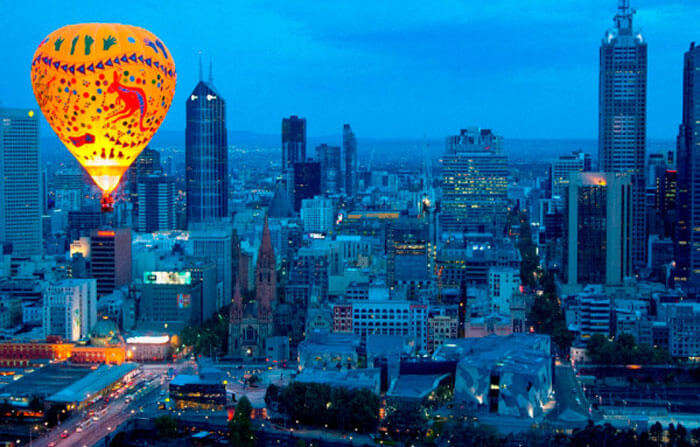 Hot-air ballooning in Melbourne is among adventurous and fun things to do in Melbourne