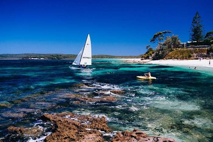 Hyams Beach and its turquoise water set up the ideal environs for a quaint evening