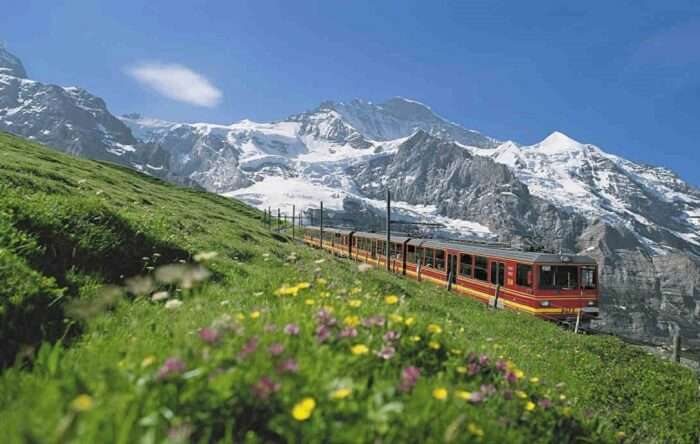 A train journey through the mesmerising mountains of Interlaken is another name among the famous Switzerland tourist attractions