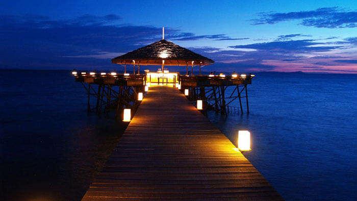 A diner of Japamala Resort