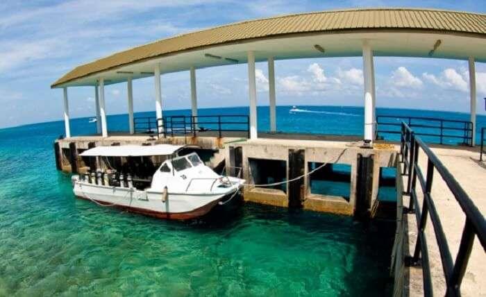 A resort at the Layang Layang Island Beach